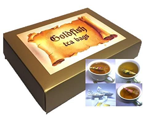 Set de regalo de lujo, 12 bolsas de té de pez dorado ...
