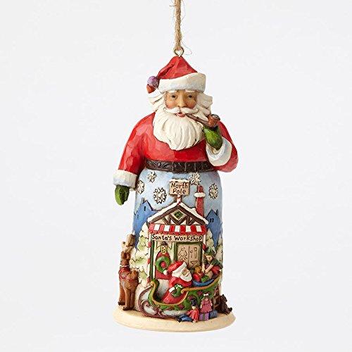 (Enesco Jim Shore HWC Santa With Sleigh and Reindeer Ornament)