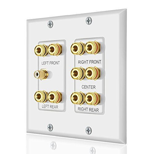 (Home Theater 5.1 Surround Sound Distribution Wall Plate)