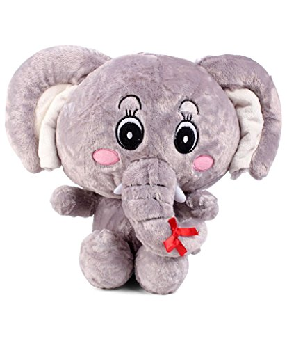 Tickles Sweet Big Ear Elephant Stuffed Soft Plush Toy Love Girl  Size: 30 cm Color: Grey
