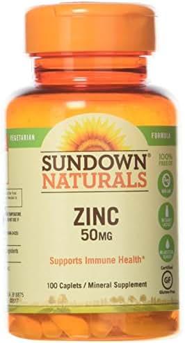 Sundown, Zinc Gluconate 50Mg Caplets, 100 ct