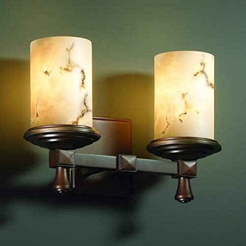 Justice Design Group FAL-8532-10-DBRZ Deco 2 Light Bathroom Bar Fixture from the LumenAria ()