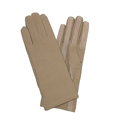 Isotoner Women's Knit Lined Spandex Winter Glove, Camel