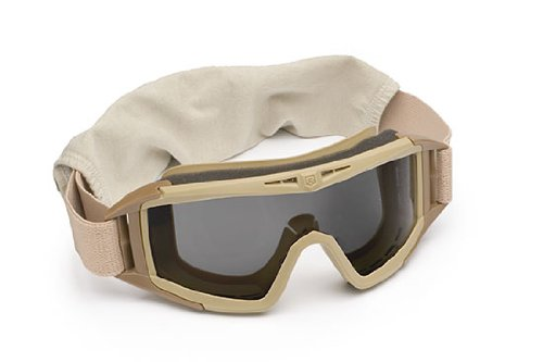 Revision Eyewear Desert Locust Goggles - Revision Military Desert Locust Goggles Basic Solar 4-0309-0511 Desert Locust Goggles Basic Solar Desert Tan, Solar