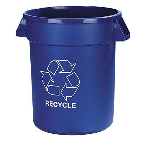 Carlisle 341032REC14 Bronco LLDPE Recycle Waste Container, 32-gal. Capacity, 22.37 x 27-3/4, Blue (Case of 4)