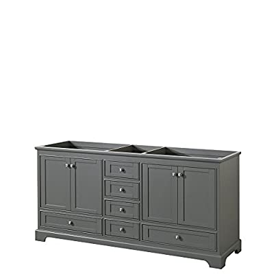 Wyndham Collection Deborah 72 inch Double Bathroom Vanity with No Mirror