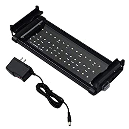 Honpal LED Aquarium Light with Extendable Brackets, White and Blue LEDs,Fish Tank Light for Fresh Water and Salt Water.