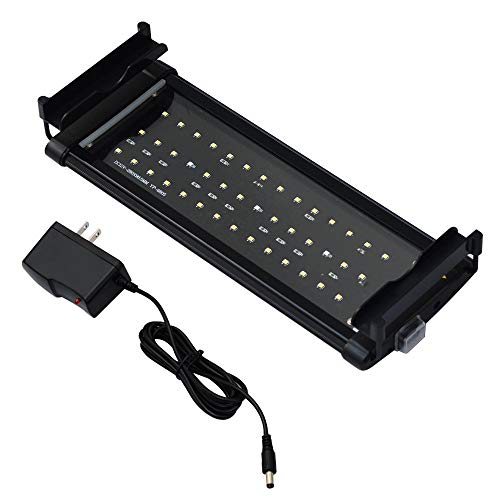 Honpal LED Aquarium Light with Extendable Brackets, White and Blue LEDs,Fish Tank Light for Fresh Water and Salt Water(11-19Inch).