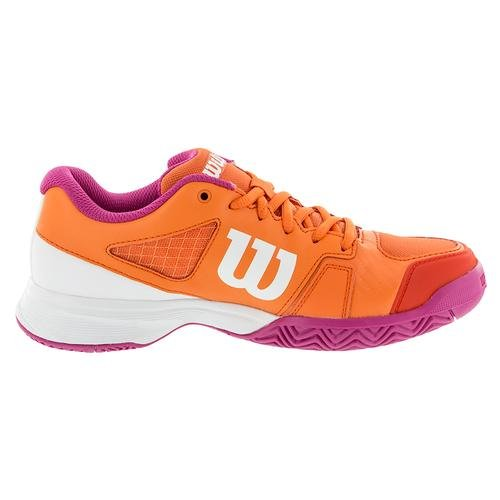 Wilson WRS322500E050, Zapatillas de Tenis Unisex Niños, Varios Colores (Multicolor / Nasturtium / White / Rose Violet), 38 1/3 EU