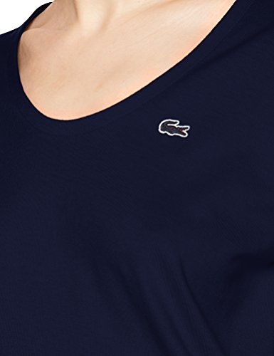 shirt marine Lacoste Blu 166 T Donna BHwnH5p74q