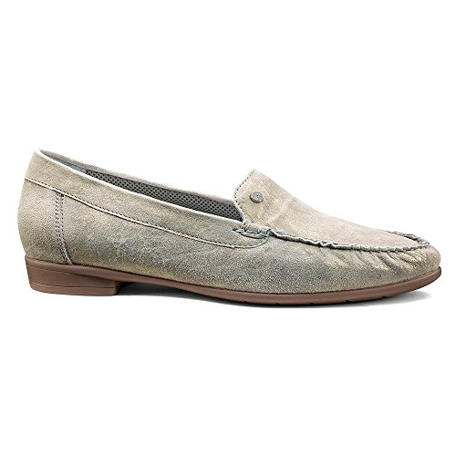 Ara Vrouwen Weerhaak Slip-on Loafer Grijs Metallic Suede