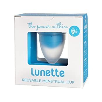 Lunette Menstrual Cup - Clear - Model 2 for Medium to Heavy Menstruation - Natural Alternative for Tampons and Sanitary Napkins