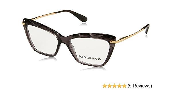 Authentic Dolce /& Gabbana DG 5025 504 Transparent Grey//Gold Eyeglasses 53mm