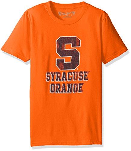 Original Retro Brand NCAA Syracuse Orange Youth Boys Tee, Small, Orange - Youth Syracuse T-shirt Orange