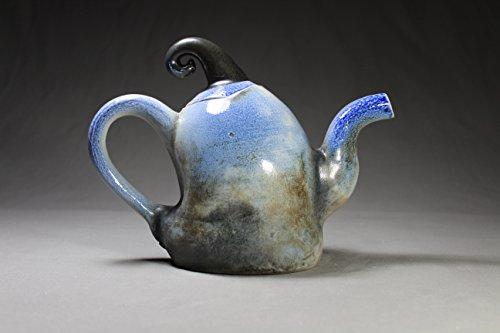 - 28 oz Handmade, Wheel Thrown Soda fired Teapot.