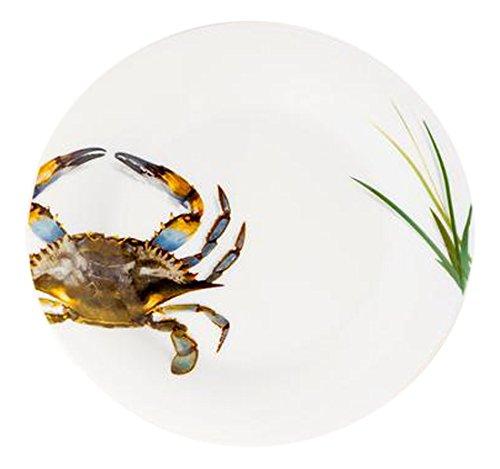 (Galleyware Blue Crab Salad/Dessert Plates (Set of 6))