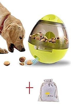 Ginkago Pelota para perro, Dispensador de comida para perros Juguete Comida para perros Comida para perros Intestino Juguete forrajeador (rosado): ...
