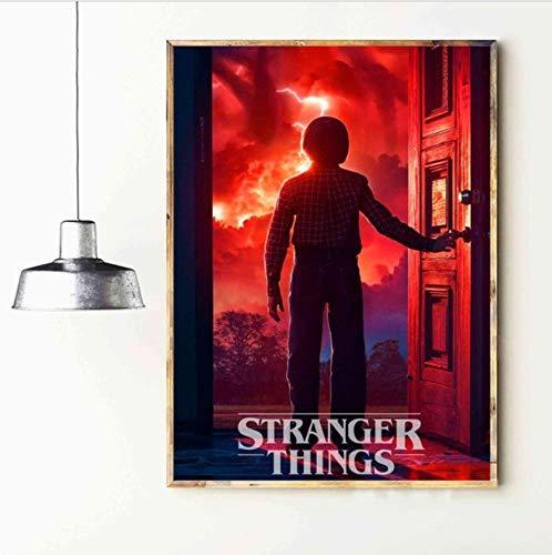yhnjikl Cosas extrañas Película Canvas Art Print Poster ...
