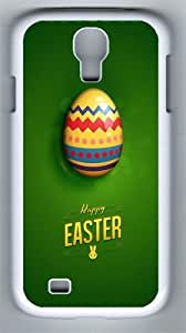 Happy Easter Green PC Hard Case Cover For Samsung Galaxy S4 SIV I9500 Case and Cover White
