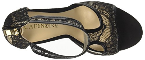 real CAFèNOIR Women's Knb911 Open Toe Sandals Black (Nero 010) cheap new 3KceAT7Cyn