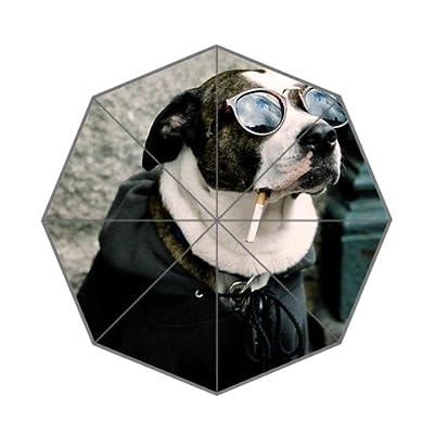 110,2x 65cm Cool Smoking Motif chien Parapluie