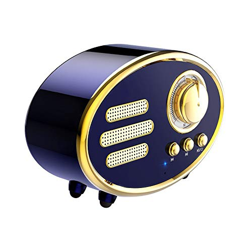 Portable Retro Bluetooth Speaker, Multifunction Wireless Bluetooth Speaker Jukebox Stereo Bass Speaker, Support U Disk/TF Card