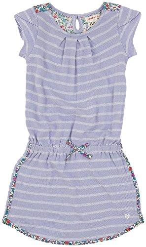 Hatley Little Girls' Petal Sleeve Dress Flowers, Purple, 2T