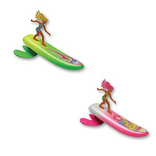 Surfer Dudes Wave Powered Mini-Surfer and Surfboard Beach Toy - 2 Pack - Bobbi and Alice by Surfer Dudes