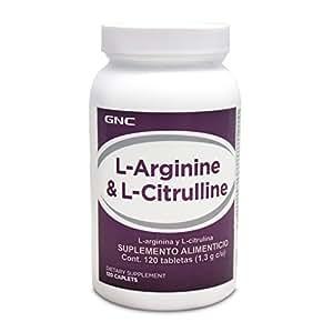 Amazon.com: GNC L-Arginine and L-Citrulline, 120 Caplets ...