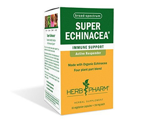 Herb Pharm Certified Organic Super Echinacea Extract for Immune System Support - 60 Vegetarian Capsules