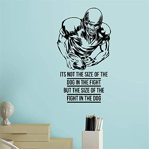 treala Vinyl Wall Sticker Mural Bible Letter Quotes Its Not The Size The Dog in The Fight But The Size The Fight in The Dog