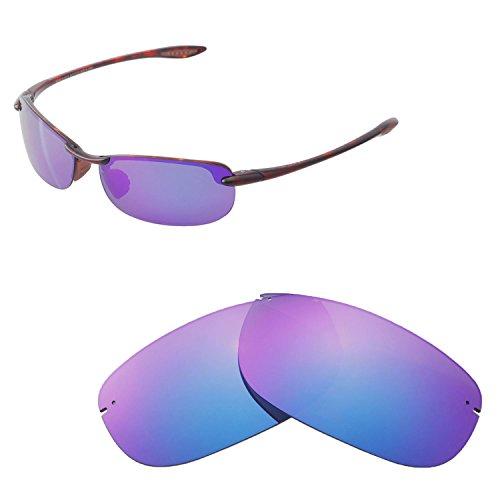 Light Hookipa Outdoor 1 - Walleva Replacement Lenses for Maui Jim Makaha Sunglasses - Multiple Options Available (Purple - Polarized)