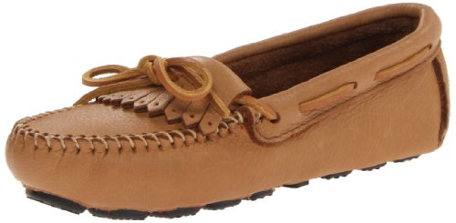 Minnetonka Moosehide Driving Moc 350, Women's Mocassins, Beige (Natural), 11 B(M) US - Moc Natural