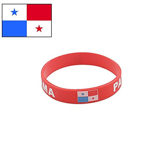 d136a553c TDoperator Panama Flag Silicone Bracelet FIFA World Cup 2018 for Soccer Fan  Unisex Design Soft and