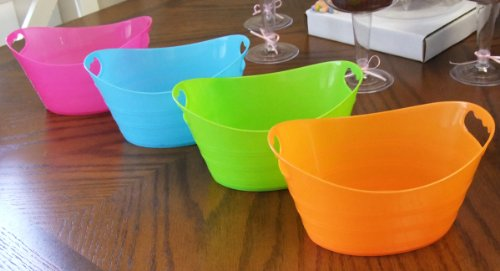 24 ct. Party Favors Packing Set: Mini Ice Buckets, Bags, Curling Ribbons, Tissue Papers & Crayons