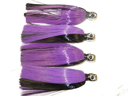 Goblin Head Ilander style fishing lures 4 pack purple black
