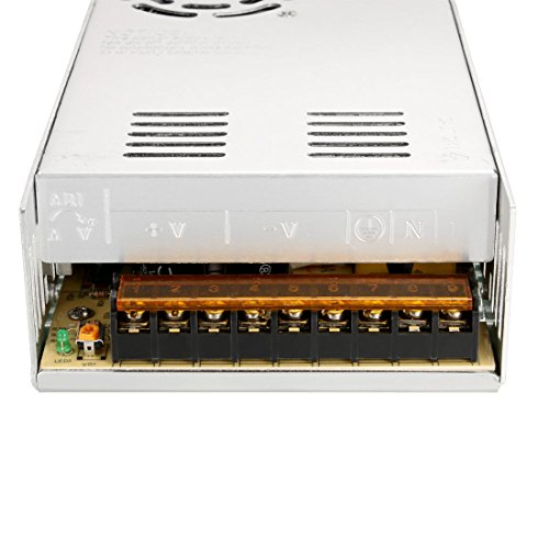 uxcell Switch Power Supply Driver S-360-12,AC 110V/220V to DC 12V 30A 360W for LED Strip Light by uxcell (Image #1)