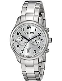 Mens 5031.1 Monticello Quartz GMT Date Stainless Steel Link Bracelet Watch