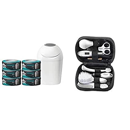 Tommee Tippee Sangenic Starter Tec Nappy Disposal Starter Pack + Closer to Nature Healthcare Kit Bundle