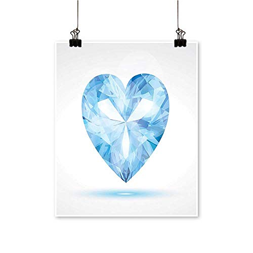 (Canvas Prints Wall Art Big Hanging Valentine Heart with Bright Shades Shadow Box Passion Romance Fortu Artwork for Wall Decor,28