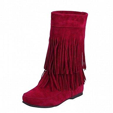 RTRY Women'S Boots Spring Fall Winter Comfort Novelty Fabric Wedding Office &Amp; Career Dress Casual Party &Amp; Evening Wedge Heel Tasselblack US7.5 / EU38 / UK5.5 / CN38 CNLhTJ