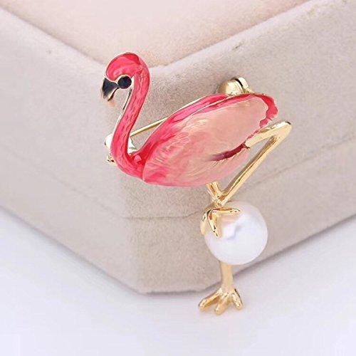 Amy natural freshwater pearl corsage brooch pin flamingo flamingo brooch pin burst models plating gold color retention