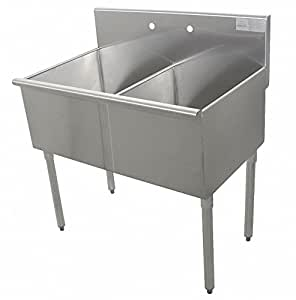 Utility Sink Stainless Steel 48 In L Amazon Com