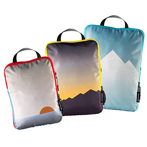 Well Traveled - Compression Packing Cubes for Travel - Organizers for Travel Luggage and Accessories - Travel Bags for Packing