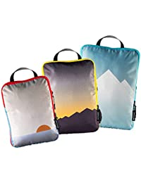 3pc Compression Packing Cubes for Travel - Luggage Organizer, Suitcase Organizer & Backpack Organizer with Space Saver Travel Bags for Packing Clothes, Travel Gear & Travel Accessories