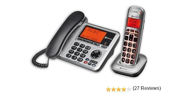amplicomms BigTel 1480 - Teléfono (Teléfono DECT, Wired & Wireless handset, 100 entradas, Identificador de Llamadas, Negro, Plata): Amazon.es: Electrónica