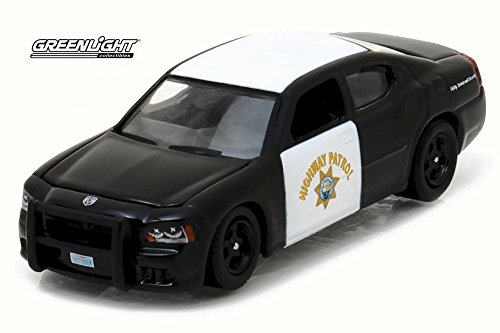 Greenlight 2008 Dodge Charger Highway Patrol, California 42790/6 - 1/64 Scale Diecast Model Toy Car