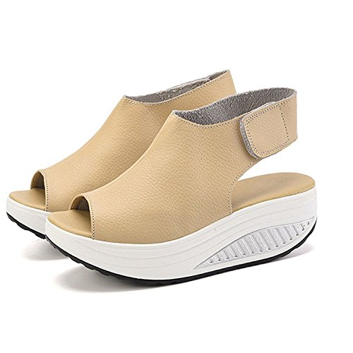 Cystyle Women's Fashion Sandals Beige