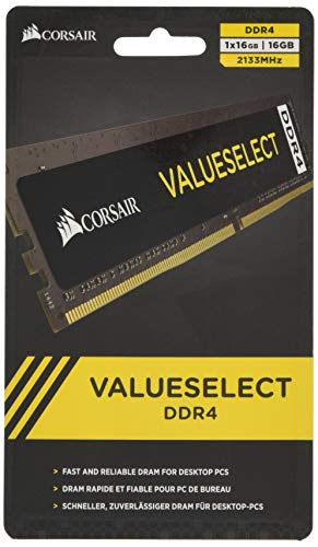 (Corsair Value Select Series 16GB (1x16GB) DDR4 2133MHz (PC4-17000) CL15 DIMM)