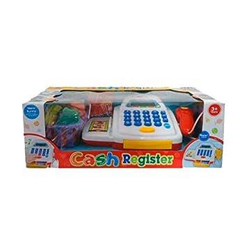 DRIM DISCOUNT Caja Registradora de Juguete Blanca: Amazon.es: Juguetes y juegos
